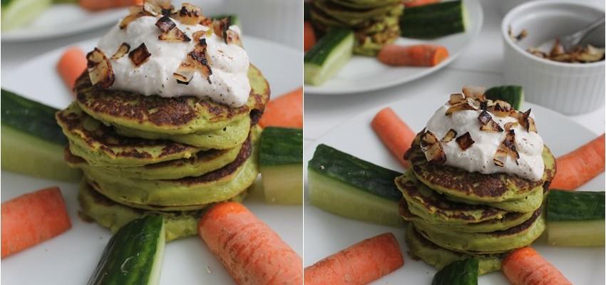 pancakes mit Avocado lowcarb