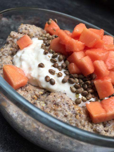 Ketogenes Frühstück - Keto bei Krebs - Mandelbrei