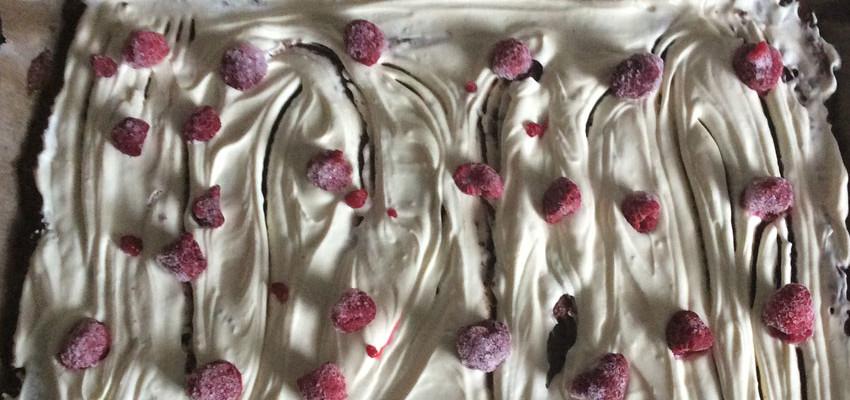 Rezept Cheesecake Brownies Mit Himbeeren Oder Kirschen