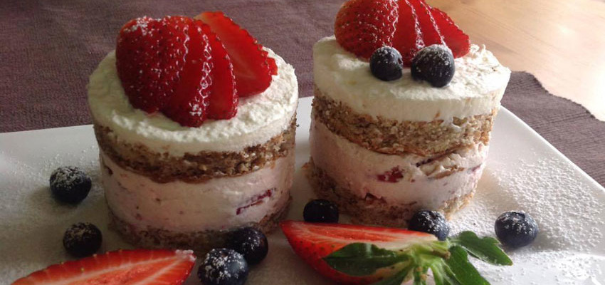 Rezept Erdbeer-Tiramisu Törtchen lowcarb
