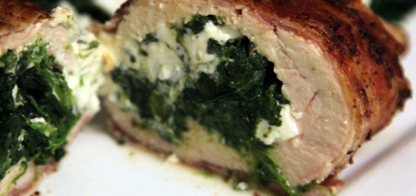 Rezept Gefüllte Hähnchenbrust im Bacon Mantel Low Carb