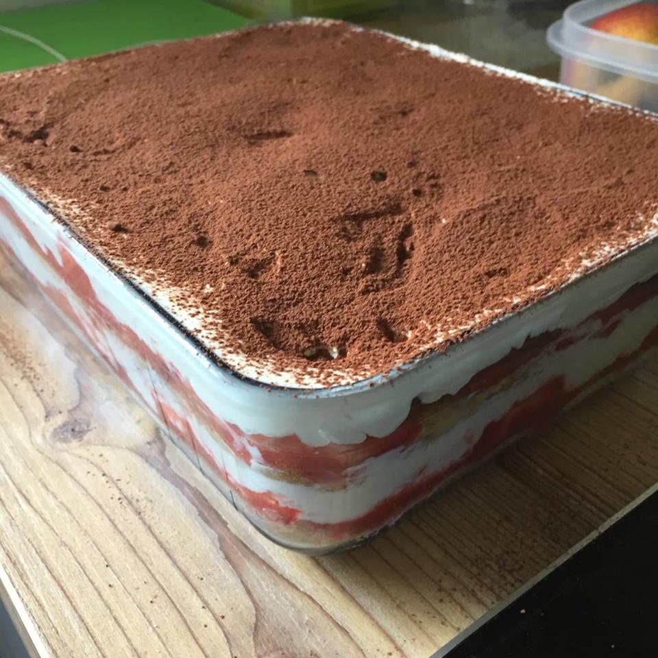 Rezept Erdbeer Tiramisu lowcarb – glutenfrei