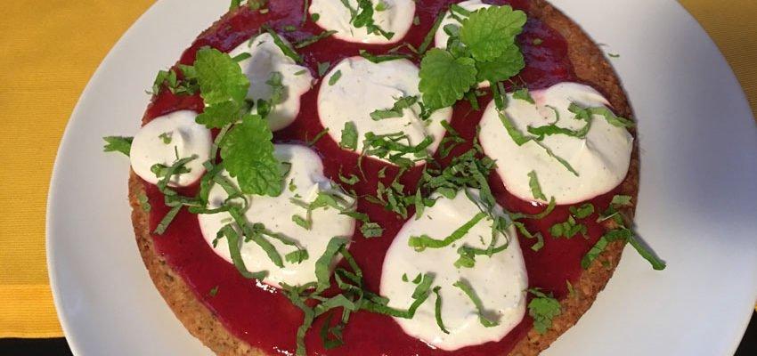 """Rezept Müsli-Pizza """"Margarita"""" lowcarb und glutenfrei"""